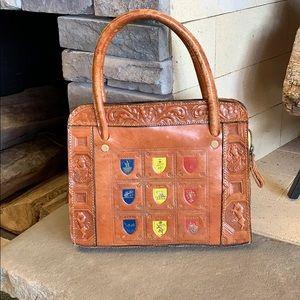 Handbags - Vintage Tooled Leather | France Flag Capri Handbag